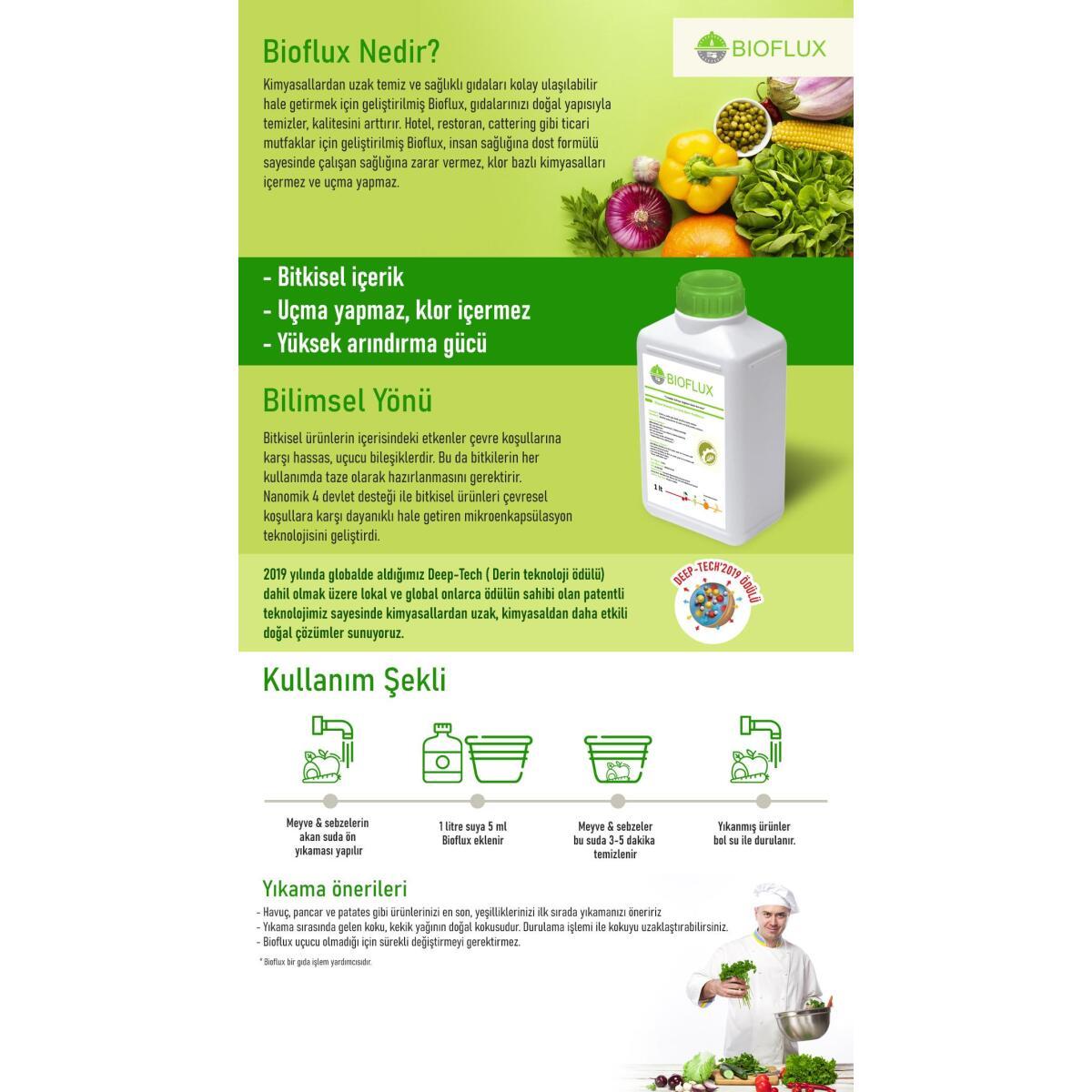 Bioflux Home Meyve Sebze Yıkama Temizleme Ürünü-500 Ml
