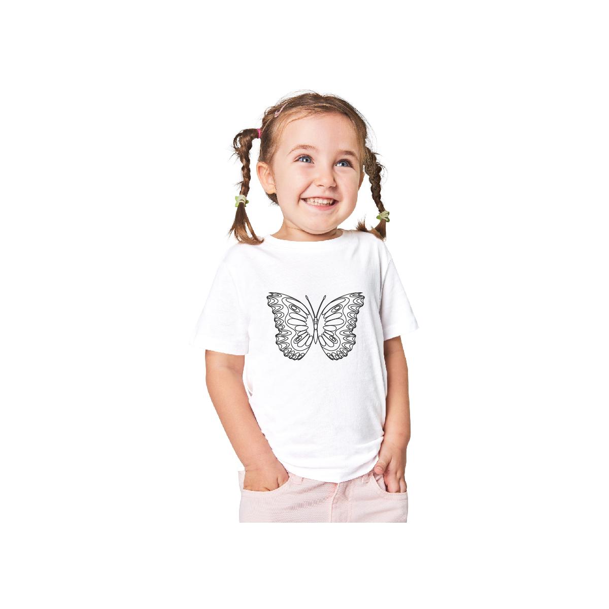 Kelebek Boyama T-Shirt 9-11 Yaş