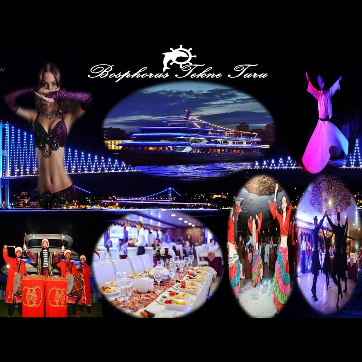 Bosphorus Tekne Turları Eşsiz Boğaz Manzarası ile Türk Gecesi Programı