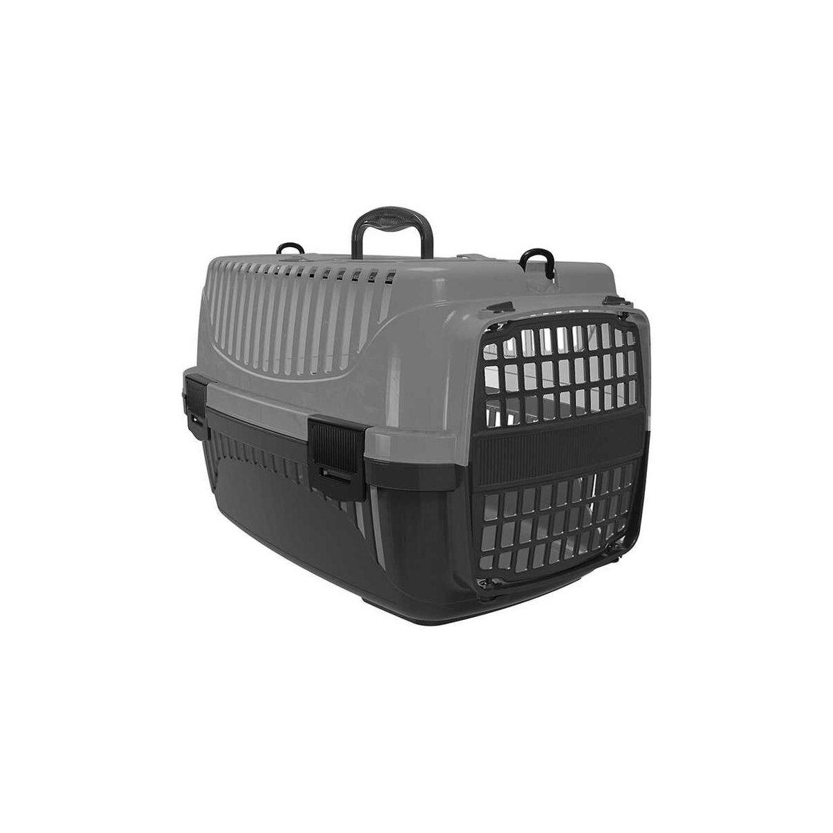 Plastart Pt-100 Evcil Hayvan Taşıma Çantası Gri Siyah