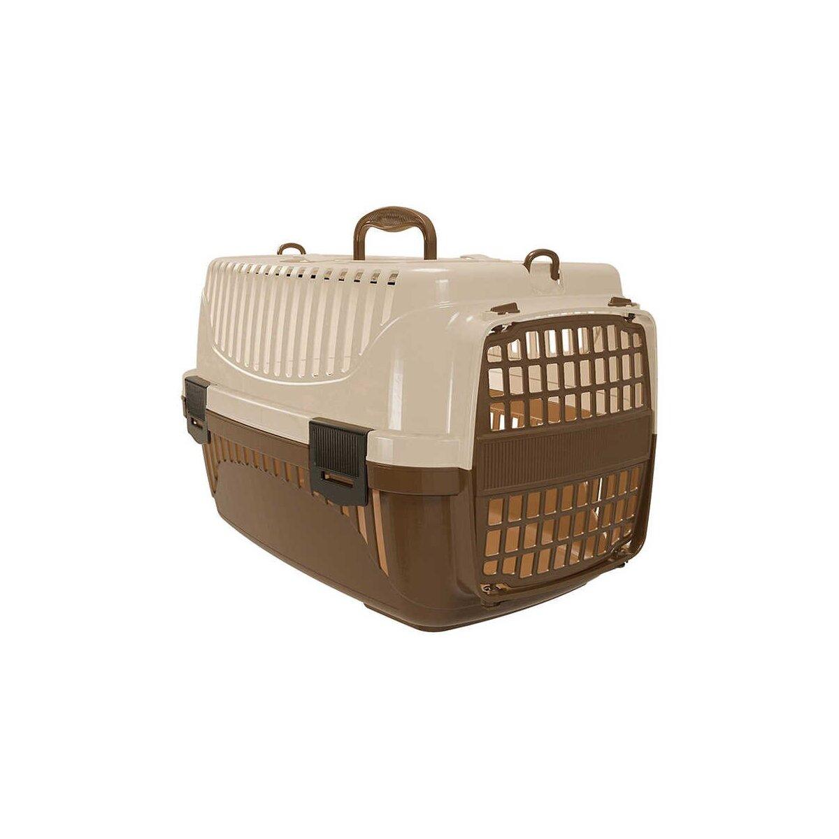 Plastart Pt-100 Evcil Hayvan Taşıma Çantası Bej Kahve