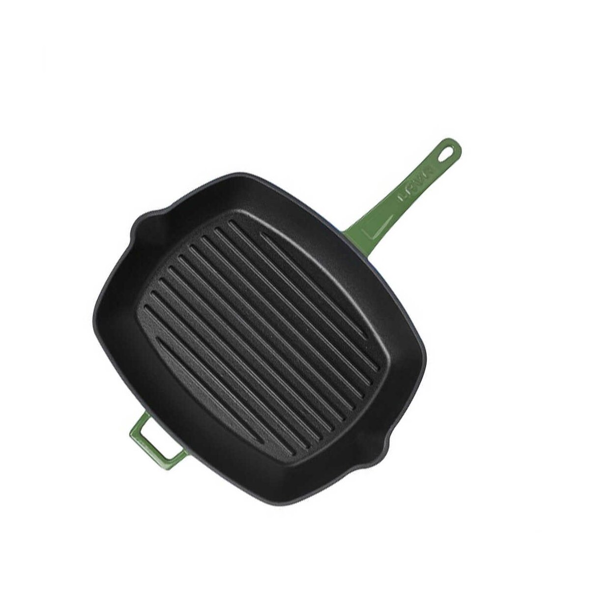 Lava Demir Döküm Metal Kulplu Dikdörtgen Izgara Tava Yeşil 26X32 Cm