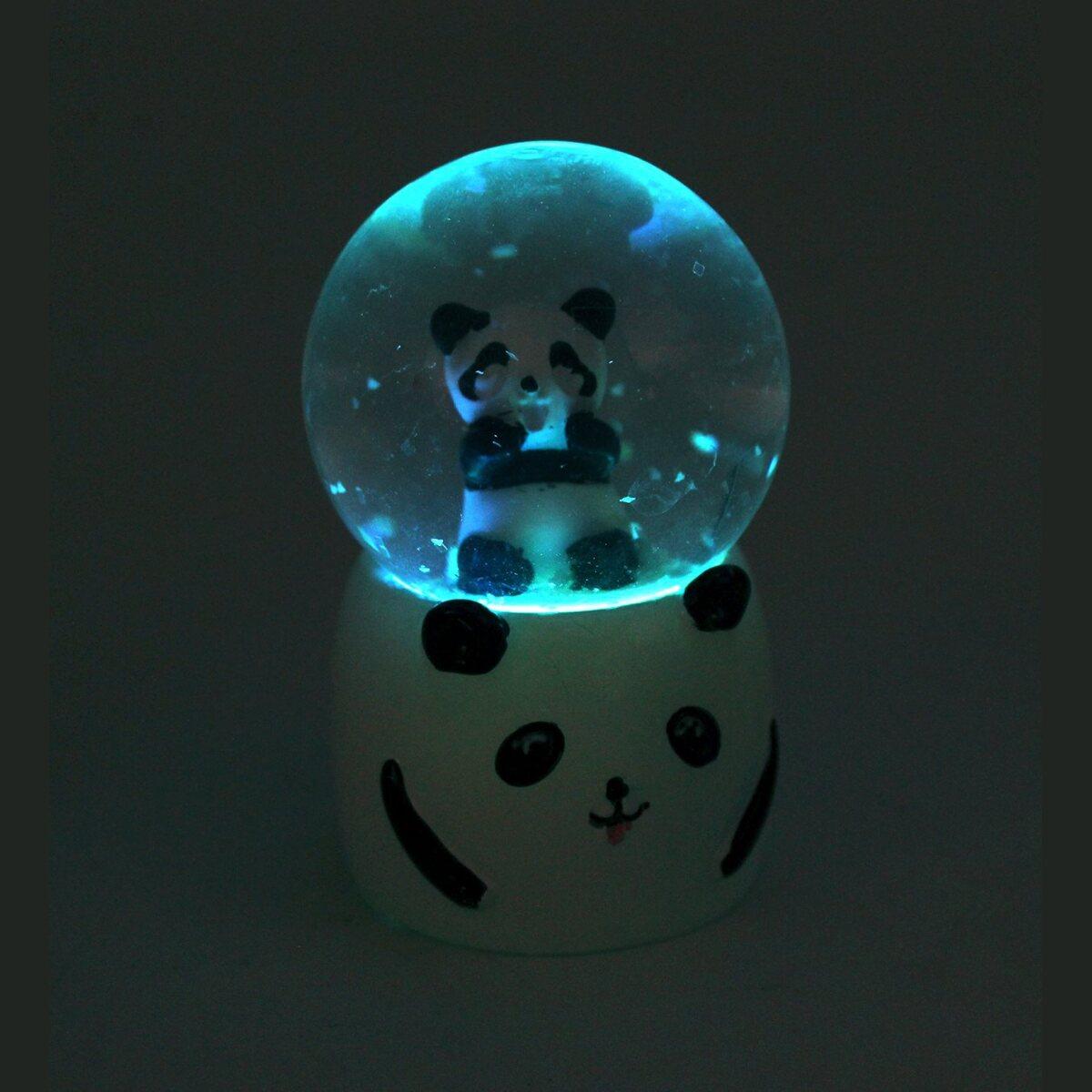 Sevimli Panda Kar Küresi & Melek Kolye