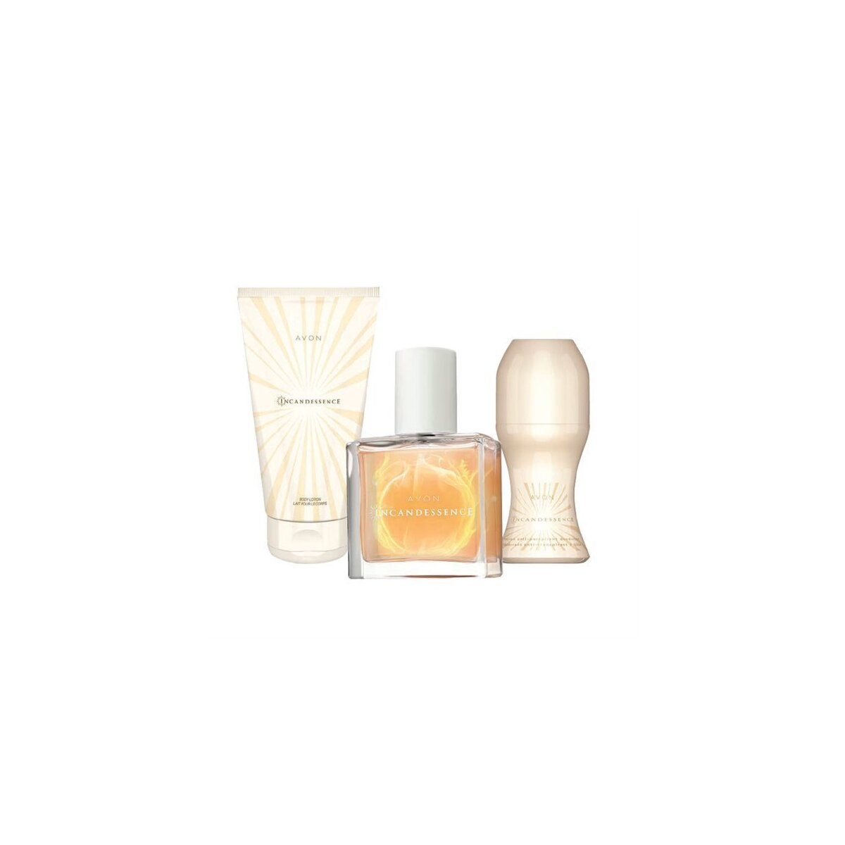 Avon Incandessence Edp 30 Ml + Roll On + Losyon Set