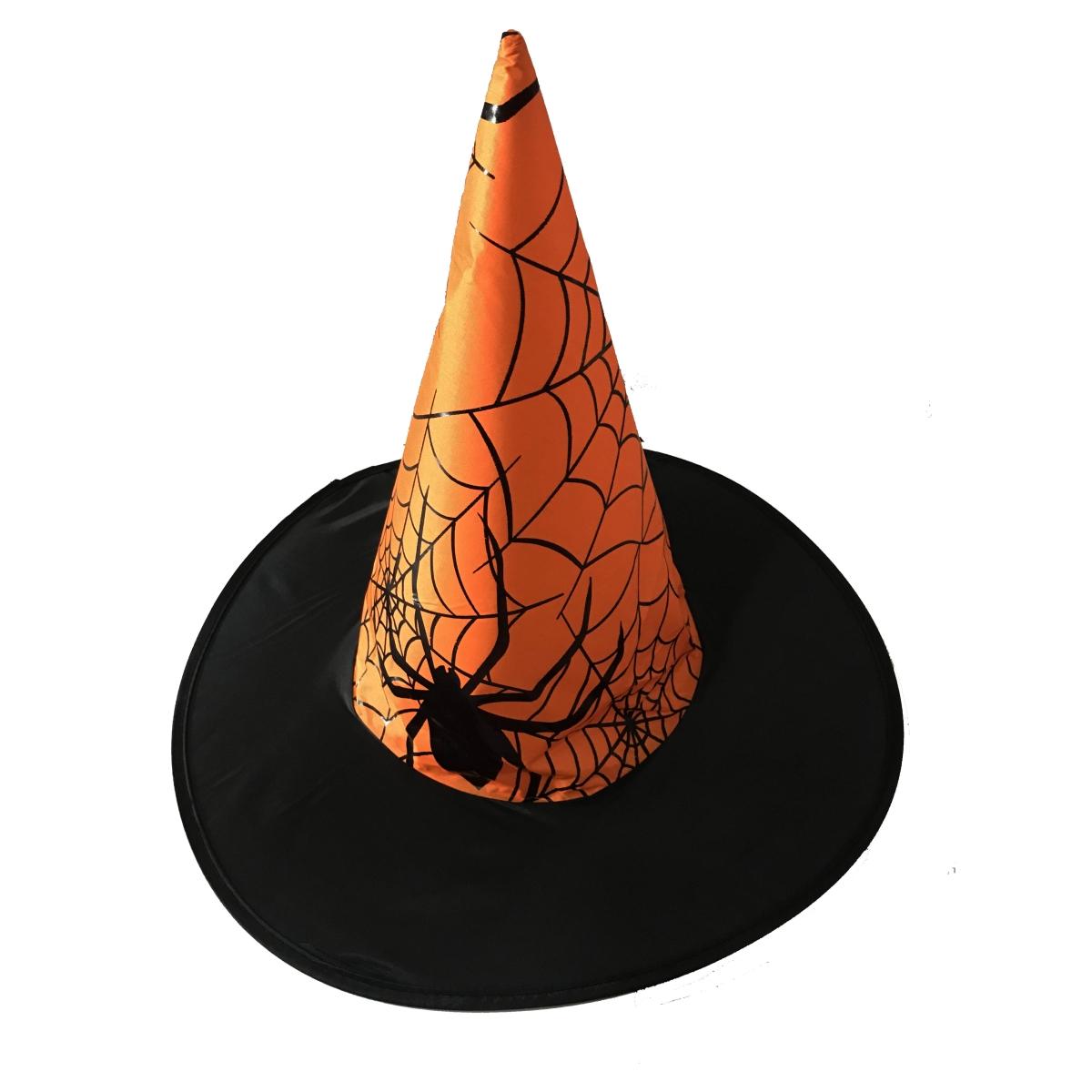 Parti Aksesuar Cadı Şapkası Örümcek Modeli Sarı Renk