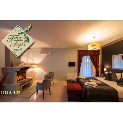 Ağva Tree Tops Park Hotel'de Bugalow, Jakuzili veya Şömineli Odada Çift Kişilik Kahvaltı Dahil Konaklama Paketleri