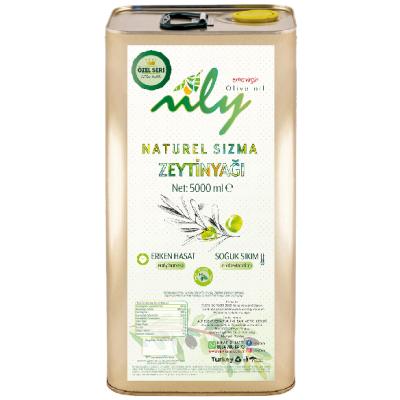Nily İlk Hasat Soğuk Sıkım Naturel Sızma Zeytinyağı Teneke 5 L