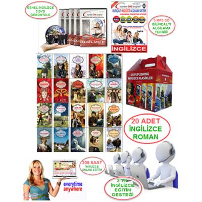 10 Cd + 3 Yıl Online Eğitim+3 Yıl Destek +20 İngilizce Roman Sis