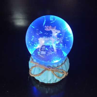 Işıklı Kar Küresi Yılbaşı Küresi Işıklı Geyikli Kar Küresi