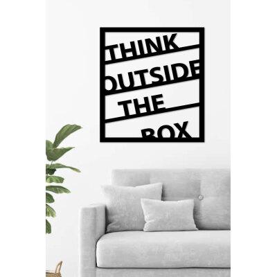 Think Outside The Box Lazer Kesim Ahşap Duvar Dekoru