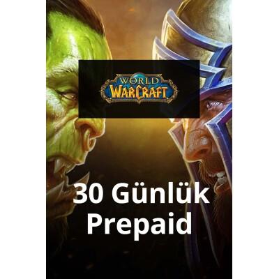 World of Warcraft 30 günlük Prepaid
