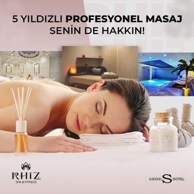 Rhiz Spa & Fitness, Grand S Hotel'de Tesis Kullanımı, Masaj ve Fitness