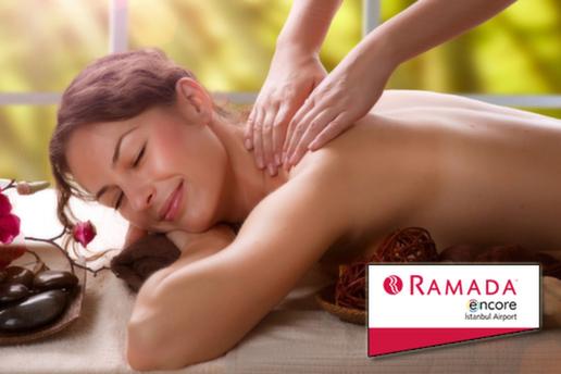 Ramada Encore Airport Hotel Nape'a Spa'da 45 DK Masaj Seçeneklerinden Biri Islak Alan Kullanımı, İçecek İkramları ve Cilt Bakımı