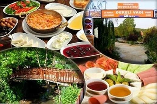 Düğün Dernek Filmlerinin Çekildiği Mekan Polonezköy Dereli Vadi Restaurant'ın Samimi ve Sıcak Atmosferinde Serpme Kahvaltı Keyfi