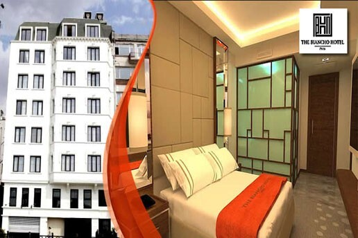 The Biancho Hotel Pera'dan Tek veya Çift Kişilik Açık Büfe Kahvaltı Dahil Konaklama