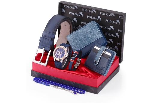 Polo Air Erkek Kol Saati Kemer,cüzdan,kredi Kartlık,tesbih,set