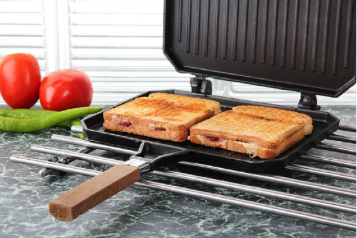 Granit Tost Makinası, Yeni Model , Ocak Üstü Tost Grill .