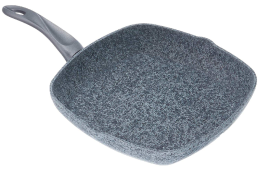 Et Pişirme Tavası 28 Cm Grill Tava, Döküm Tava, Granit Izgara Tava