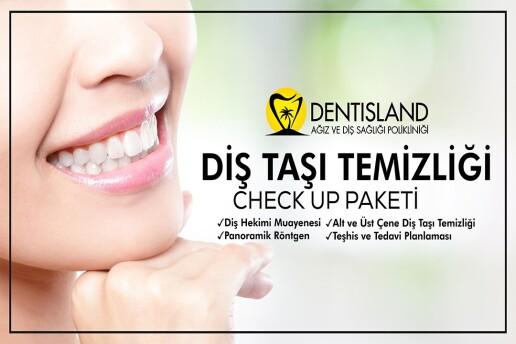 Dentisland Bakırköy ve Kadıköy Şubelerinde Geçerli Diş Taşı Temizliği Check Up Paketi