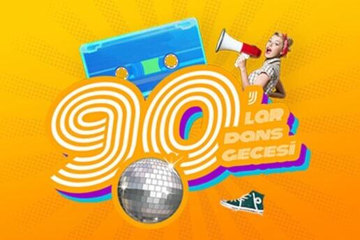 90'lar Dans Gecesi Sanat Party Hall Girş Bileti