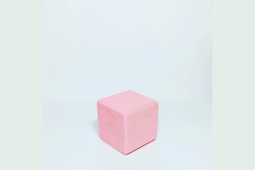 Ahşap Açık Pembe Renkli 5X5 Dekoratif Küp
