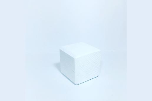 Ahşap Beyaz Renkli 5X5 Dekoratif Küp