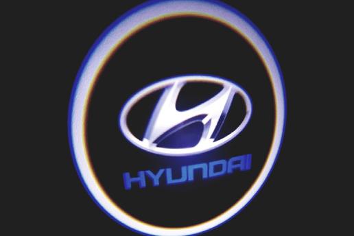 Hyundai Araçlar İçin Pilli Yapıştırmalı Kapı Altı Led Logo