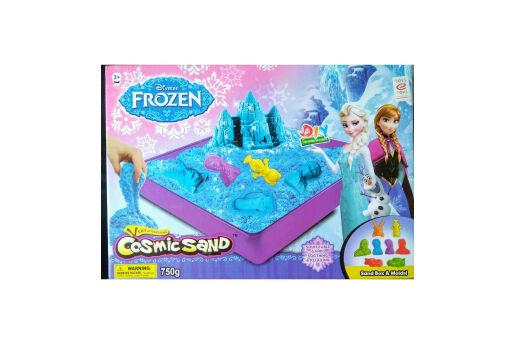 Lisanslı Frozen Cosmic Sand, Kinetik Oyun Kumu - 8 Kalıplı,750 Gr