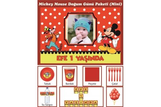 Kişiye Özel Mickey Mouse Konsepti Doğum Günü Parti Seti (Mini)