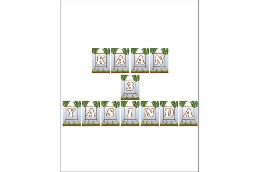 Kişiye Özel Safari Konsepti Doğum Günü Parti Seti (Maxi)