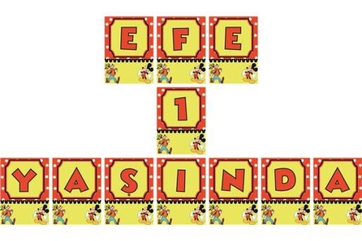 Kişiye Özel Mickey Mouse Konsepti Doğum Günü Parti Seti (Maxi)