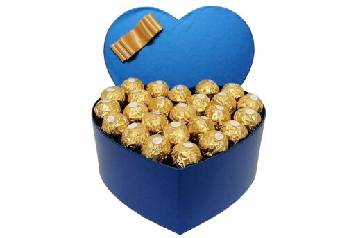 Tasarım Kalp Kutuda Enfes Çikolatalar 3