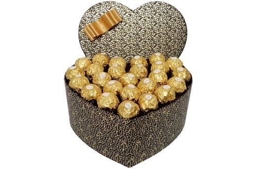 Tasarım Kalp Kutuda Enfes Çikolatalar