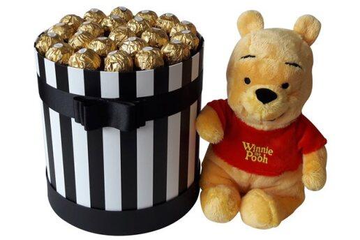 Tasarım Kutuda Enfes Çikolatalar Ve Ayıcık