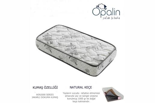 80X180 Opalin Tuğralı Ortopedik Yaylı Yatak 80*180 Yaylı Yatak