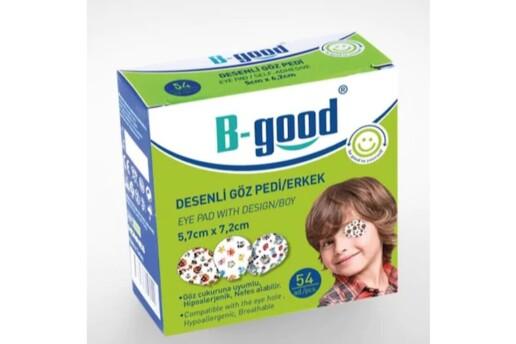 B-Good Göz Kapama Bandı Erkek Çocuk Desenli 54 Adet Tembelliği