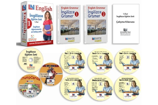 LN İngilizce Eğitim Setleri 3 Kur Bir Arada + 3 Ay Online İngilizce Kursu