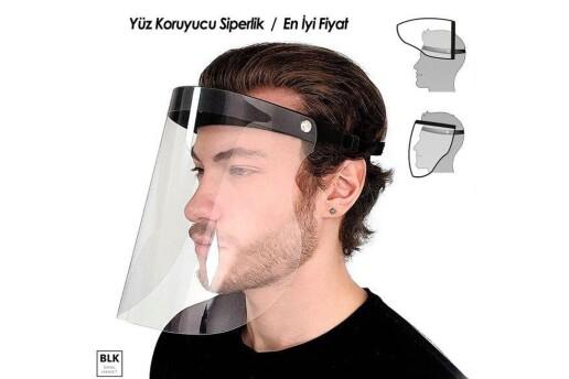 Yüz Koruyucu Siperlik + Ücretsiz Yıkanabilir Nano Maske
