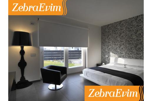 Orjinal Zebraevim Blackout Stor Karartma Perde %100 Işığı Bloklar