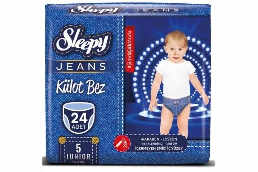 Sleepy Jeans 5 Numara Külot Bez 11-18 Kg Junior 24 Adet