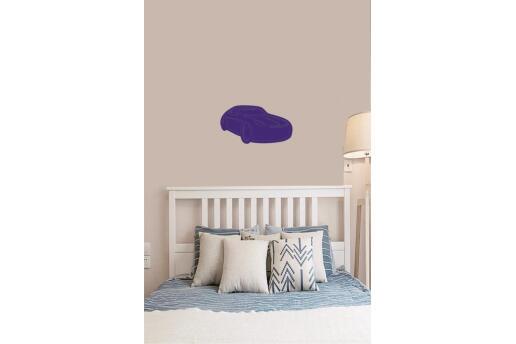 Bebek Çocuk Odası Duvar Dekorasyonu Ahşap Araba