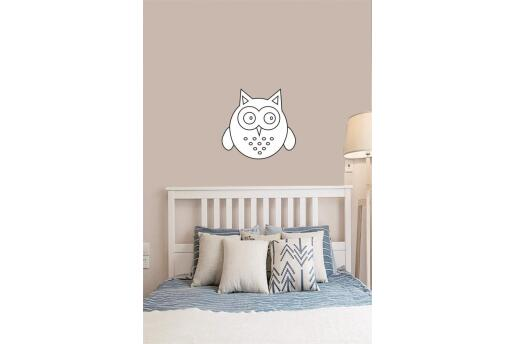 Bebek Çocuk Odası Duvar Koleksiyonu Beyaz Baykuş