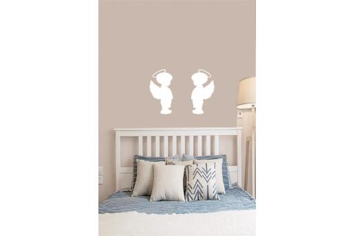 Bebek Çocuk Odası Duvar Koleksiyonu Erkek Melek Beyaz