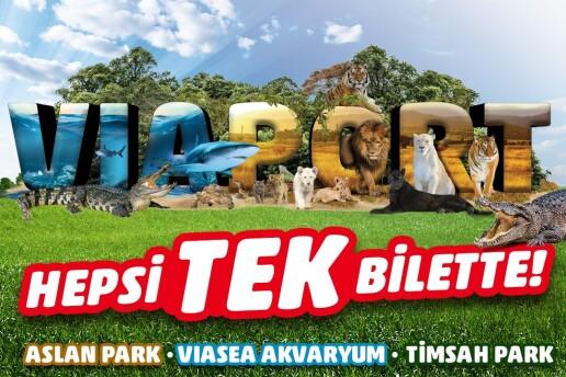 Viaport Marina Tuzla Viasea Akvaryum, Aslan Park ve Timsah Park Giriş Bileti