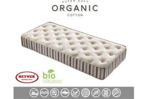 90X190 Heyner Biobed Organic Cotton Ortopedik 90*190 Yaylı Yatak