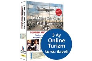Turizm ve Otel İngilizcesi Eğitim Seti + 3 Ay Online Turizm İngilizcesi Kursu