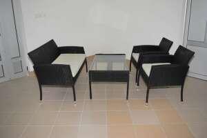 Ofismalzemecim Bahçe Mobilyası Masa Sandalye Takım Raddan Örme