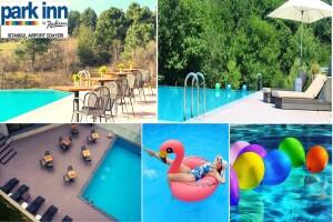 Park Inn by Radisson Istanbul Airport Odayeri Hotel'de Yemyeşil Doğada Sonsuzluk Havuzu Kullanımı
