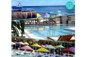 Denize Sıfır Kumburgaz Blue World Hotel'de Özel Plaj ve Havuz Kullanımı & Hamburger Menü