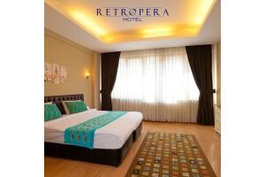 Beyoğlu Retropera Hotel'de 2, 3 veya 4 Kişilik Konaklama Seçenekleri